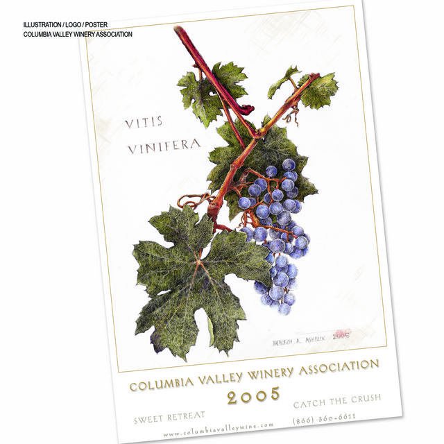 Columbia Valley Wine Association Poster